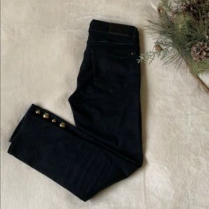 Zara black jeans with golden details